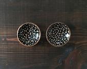 Miniature Circle Dish (3in) : Gold Dash