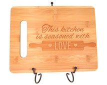 Personalized Seasoned with Love Cutting Board Seasoned With Love Engraved