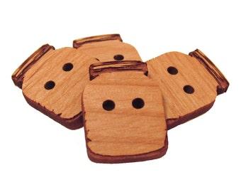 Mason Jar Wood Buttons - Laser Engraved Wooden Buttons