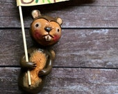 Woodland Beaver cake topper with your choice of number for birthday party or special occasion