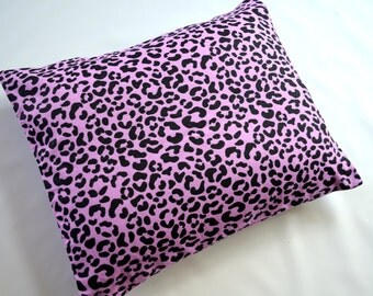 The Perfect Toddler Pillow ... Purple and Black Animal Print Flannel ... Original Design by Sew Cinnamon