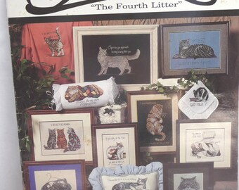 Cat Patterns, Cattitudes, The Fourth Litter, Jeanette Crews Designs, Cross Stitch Pattern, Booklet, Sewing Patterns, Funny Cats, Cat Sayings