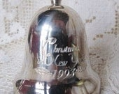 Vintage 1993 Christmas In New York, Reed & Barton Silverplate Christmas Bell Ornament