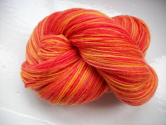 Knitting Yarn Bdo : Hand painted yarn soft merino wool lace weight red