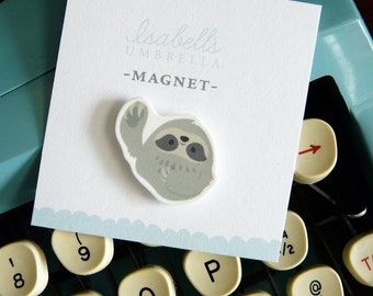 Illustrated Sloth Handmade Magnet