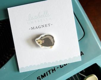 Illustrated Hedgehog Handmade Magnet (Style2)