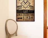 Vintage Style San Francisco Baseball Ticket graphic artwork on gallery wrapped canvas by stephen fowler CUSTOMIZE it