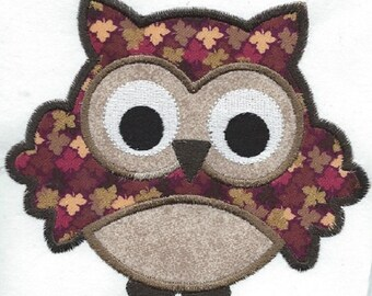 CUTEST APPLIQUE OWL iron on embroidered patch