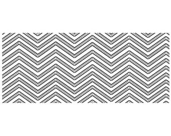 """Urban Chevron Christy Tomlinson Cling Rubber Stamp 2.5""""X6"""" by Unity ***50% off!!!"""