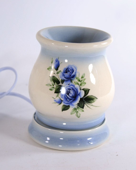 Electric Wax Tart Burners ~ Electric tart warmer wax melt oil burner blue rose mother