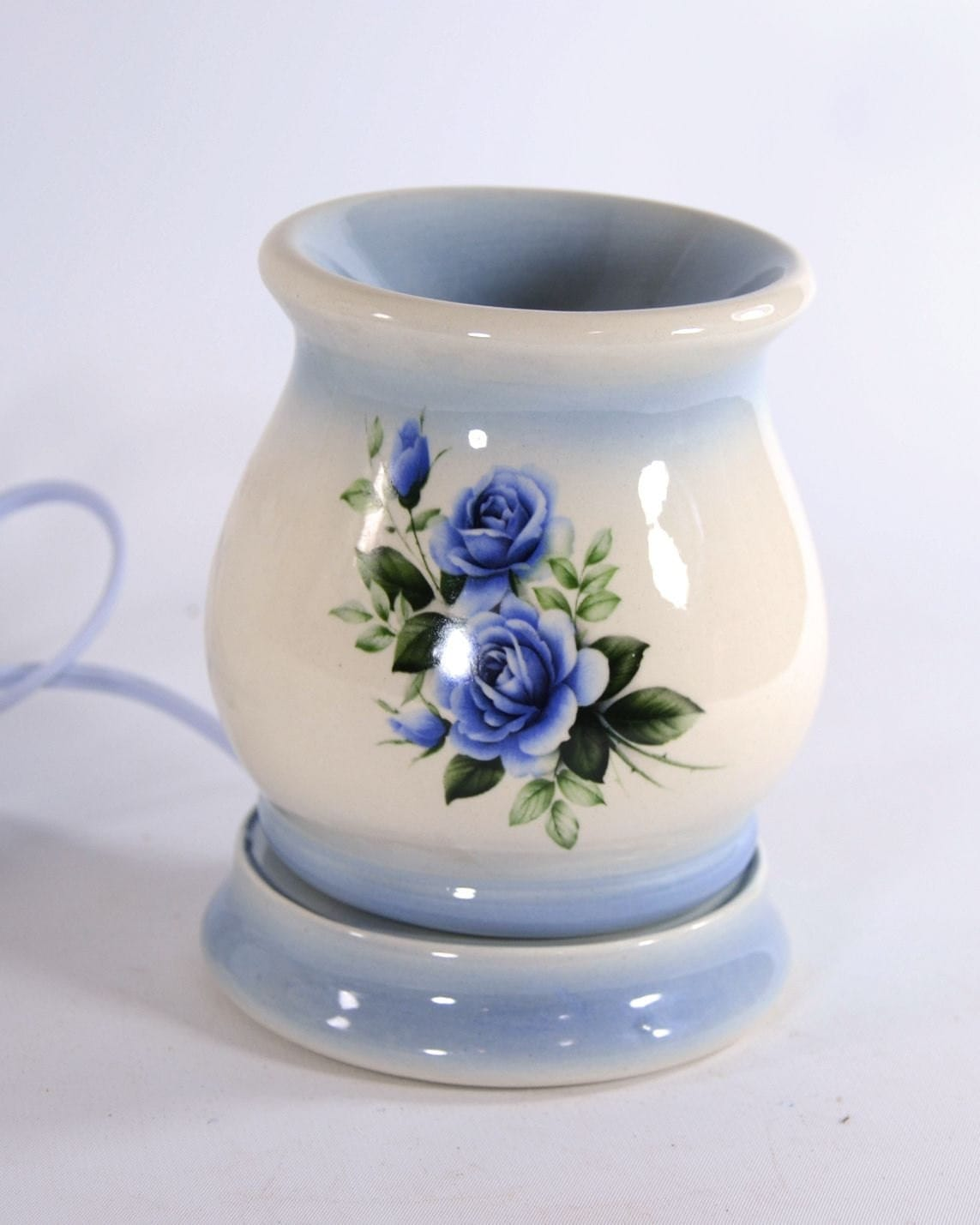Electric Tart Warmer Wax Melt Oil Burner Blue Rose Mother