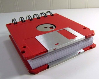 Floppy Disk Notebook JUMBO Watermelon Red Computer Disk Recycled Geek Gear Blank Mini 125 sheets