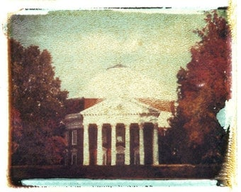 Polaroid transfer UVA Rotunda in Fall