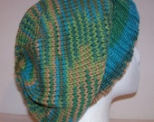 Wool Slouch Hat - Slouchy Knit Beanie - Knitted Hipster Toque - Hand Knit Hat - Bonsai