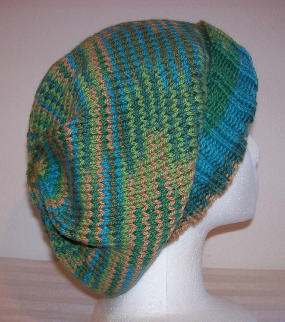 Slouchy Toque Knitting Pattern : Wool Slouch Hat Slouchy Knit Beanie Knitted Hipster Toque
