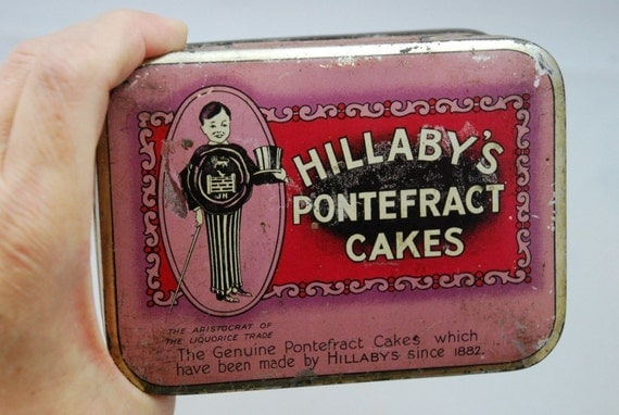 Vintage Art Deco Hillabys Cakes Tin Metal Box 1920 s