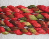 SALE - Handpainted Roving -- Polwarth Mohair Silk