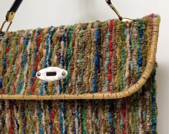 Vintage carpet bag handbag purse
