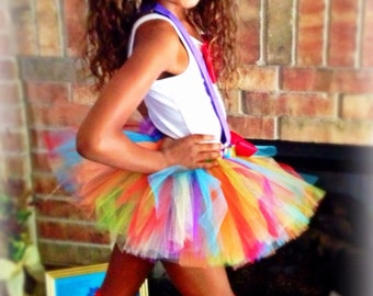 Clown Tutu Costume - Girl Halloween Costume - Party Outfit - Available in sizes 2T thru 8