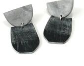 Large Half Moon drop earrings