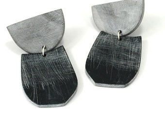 Large Half Moon drop earrings