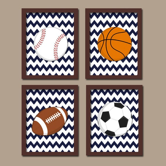 Wall Decorations Sports : Sports wall art canvas or prints boy nursery kid by trmdesign