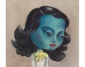 "Mimi as ""The Green Lady"" or ""The Chinese Girl""  Giclee Fine Art Print, Painting, Giclée"