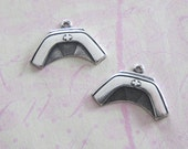 NEW 2 Silver Nurse Hat Charms 3624