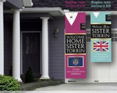 DIGITAL FILE - Giant LDS Missionary Welcome Home Banner - Sweater Vertical - Printable for Sisters