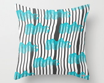 Pillow cover - Original pillow cover - Kids pillow cover - Stripes - Nursery decor - Cushion - decorative pillow
