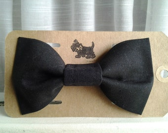 Black Bow Tie for cats dogs one size fits all collars collar bows dog cat bowtie Wedding Tuxudo