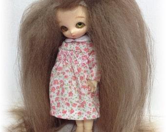 Custom made lati white , puki puki , real puki wig