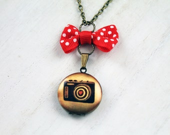 Camera love locket necklace photo photograph