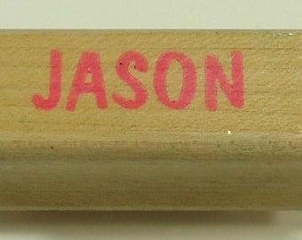 Jason Wood Mounted Rubber Stamp