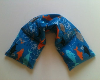 Heat pad ,Microwave Heat Pack / Flax Seed,Mint, Lavender -Sharks