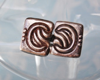Vintage Los Castillo Cufflinks Early Taxco Sterling Signed Mexican Silver