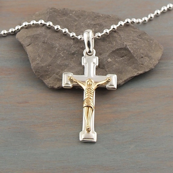 Silver cross kitchener - 24 silver chain with cross