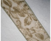 Beautiful Muted Spring Green BURNOUT VELVET RIBBON - 1970s Revival of a 1920s Style - Hard to Find - Yardage