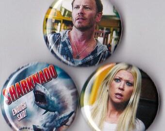 3 Sharknado Pinback Buttons