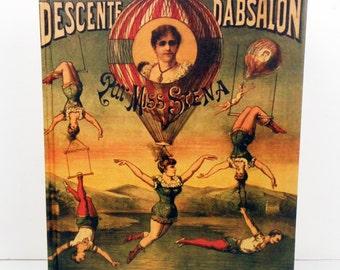 Vintage Parisian Circus Blank Sketchbook