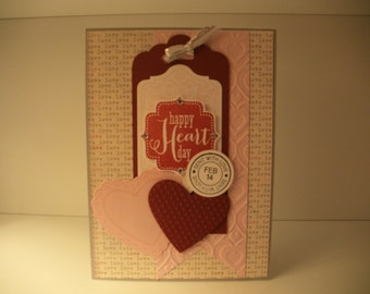 Happy Heart Day Valentine's Day handmade greeting cards