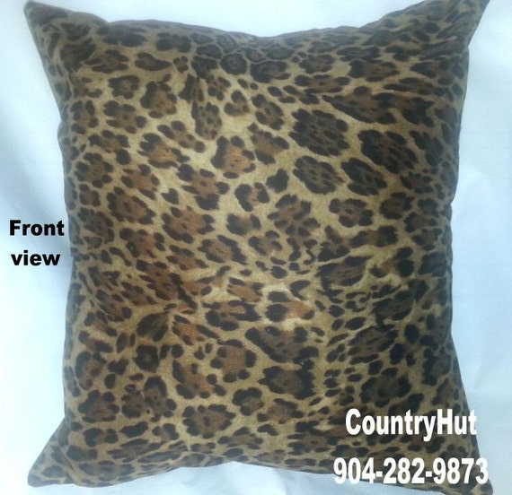 Real Animal Skin Pillows : Pillow Cover ANIMAL SKIN Decorative 18 x 18 Leopard