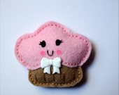 Pink Cupcake Clip or Pin