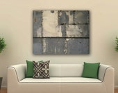 Industrial Art Print Rusty Metal Paneling photo image Giclee Print on Canvas