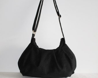 Pleated Bag // Shoulder Purse - Black