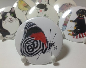 Butterfly Pocket Mirror - Compact Mirror - Hand Mirror - Handbag Mirror - Lipstick Mirror Anna's 88 butterfly