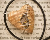 Stitched Clockwork Heart Pendant