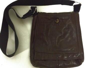 Cocoa Brown  Handmade Leather Crossbody bag