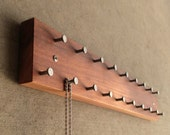 Jewelry Hanger, Solid Wood, Wall Mountable with Metal Hooks