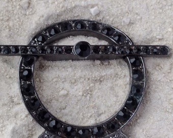 Black Crystal Clasp, Focal Clasp